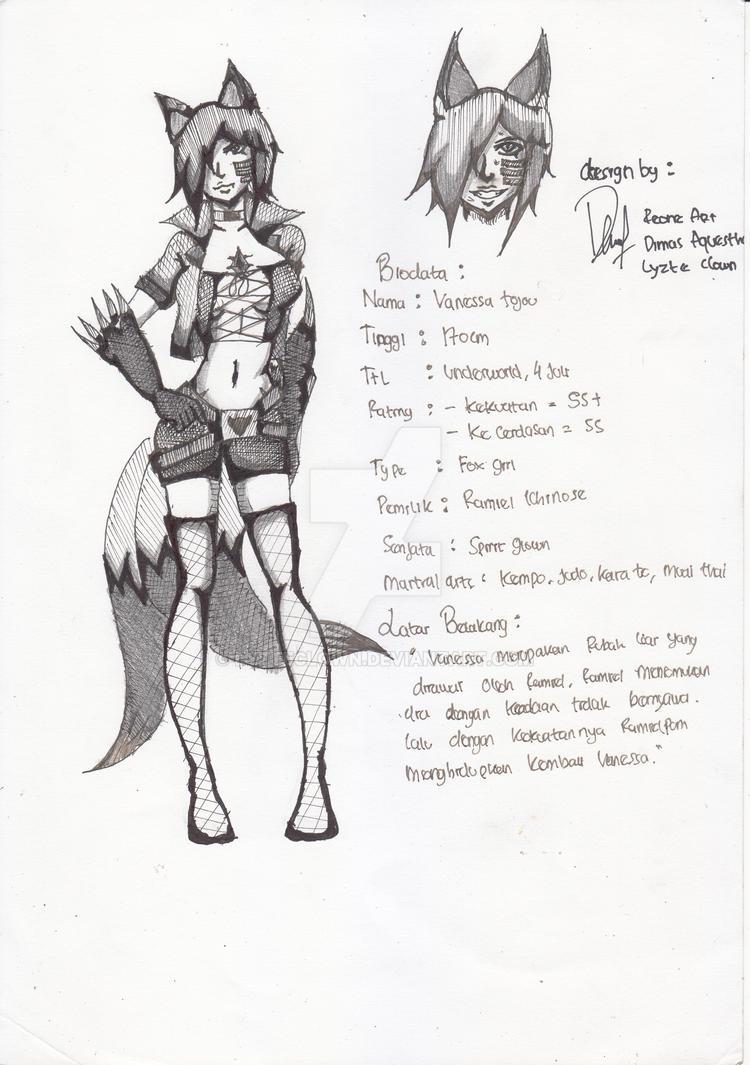 Re-Design Vanessa tojou by LyzteClown