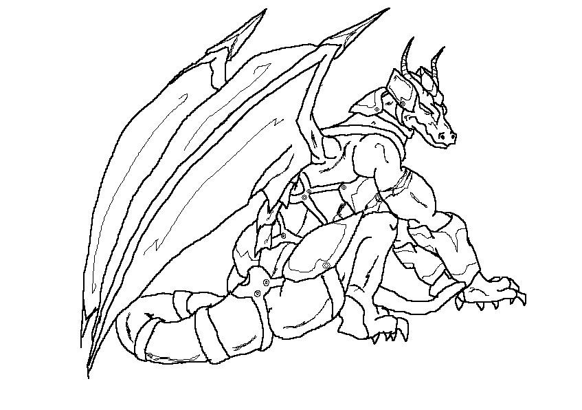 Armored Dragon by Primus95 on DeviantArt