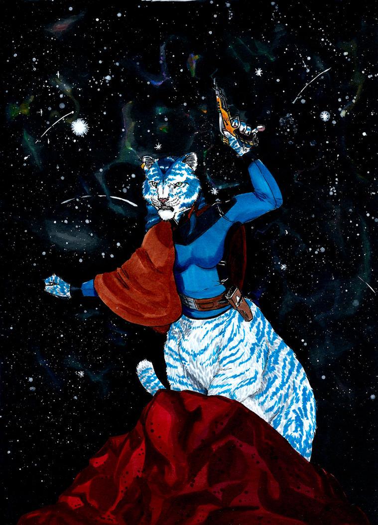Star Log: Chakat Bluetail by Manjaro-Wolf