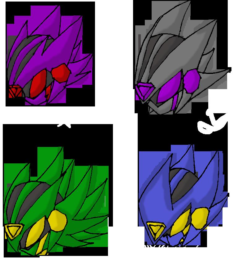 Kamen rider infinite Helmets by xXRyuseiNoNekoXx