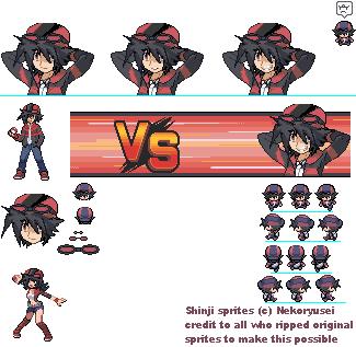 Pkmn trainer Shinji sprites by xXRyuseiNoNekoXx on DeviantArt