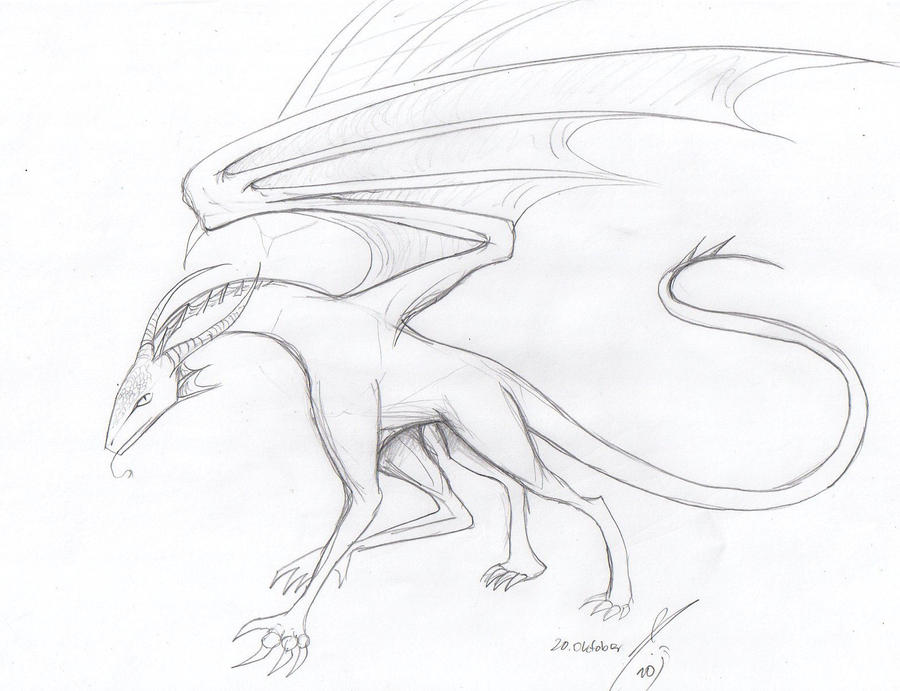 A simple dragon sketch by AthariDrawer on deviantART