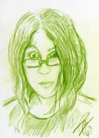 sketchy self portrait by Bruneburg