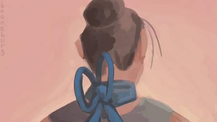 Halsband: 15 minute Ribbon Speedpaint by Bruneburg