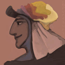 speedpaint: someone with a nice hat by Bruneburg