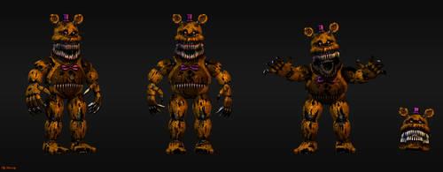 Nightmare Fredbear by HectorMKG
