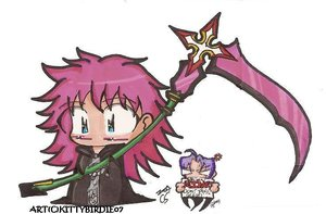 Chibi Marluxia by kittybirdie by KHIIClub