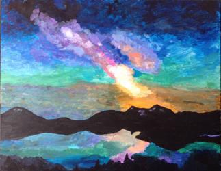 Impressionism- Rainbow Galaxy Road