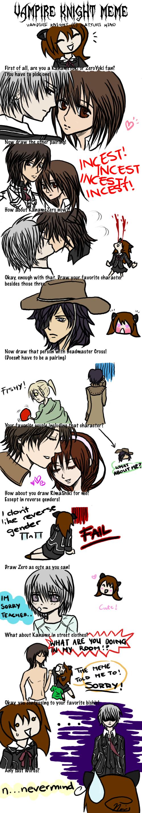 Vampire Knight Meme By Hahwhatever On Deviantart
