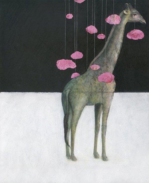 2010 - Green giraffe, pink.. by miltonblasverano