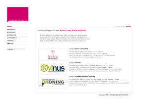 personal portfolio layout