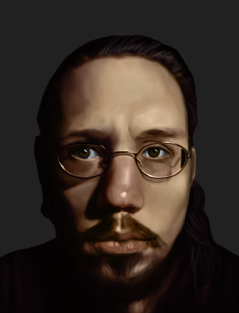 Self Portrait Colorized from Greyscale by SpazzStudios