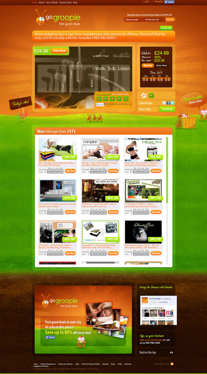 Groopie Web Design by aguswebdesign