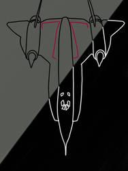 (lineart) YF-12 Oxcart  by intrestofflight