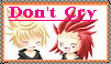 AkuRoku-Dont Cry Stamp by FlareKoshiru
