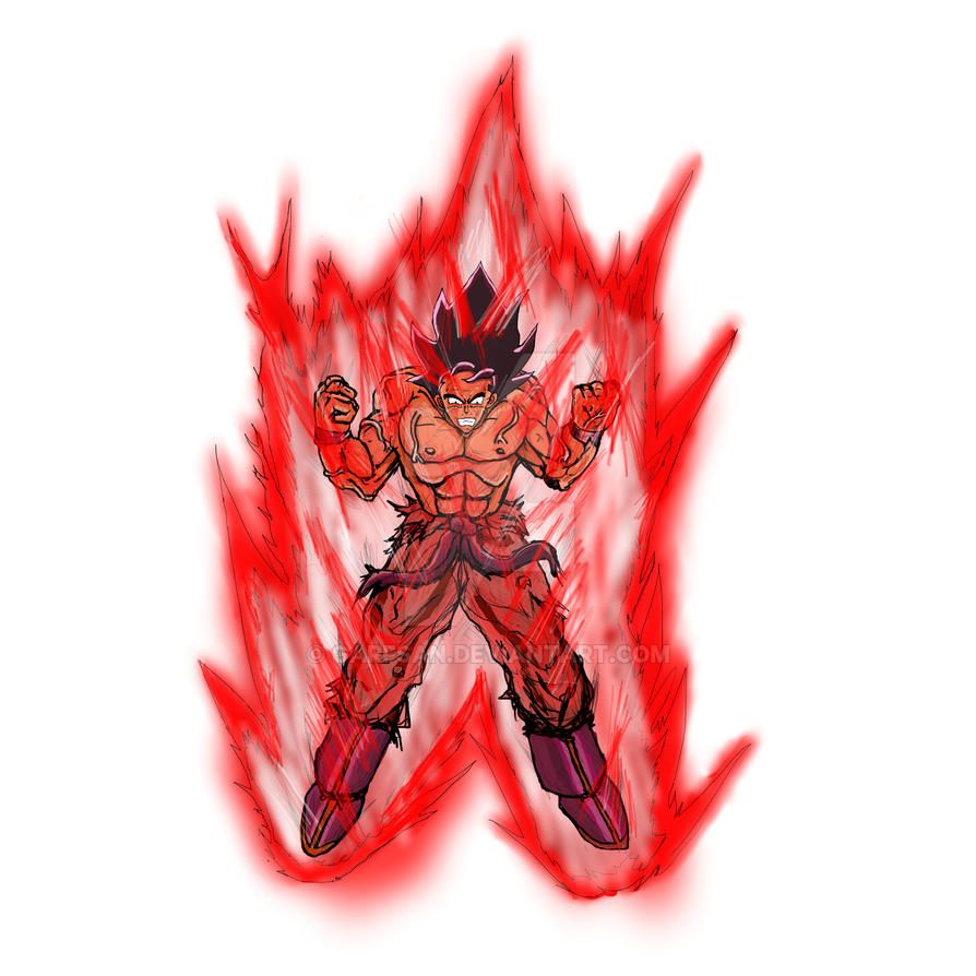 Goku Kaioken rough by Garfsan