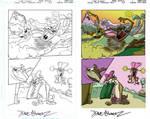 Digital Coloring Sample - Taz