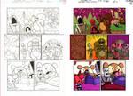 Digital Coloring Sample - Grim and Mandy
