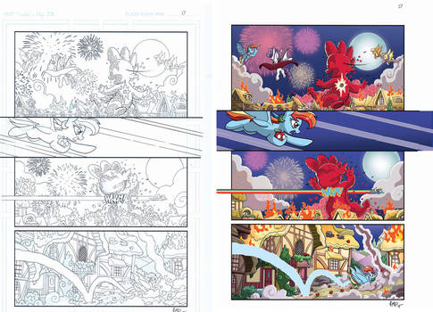 MLP Friendship is Magic #33 PG 17 Color sample
