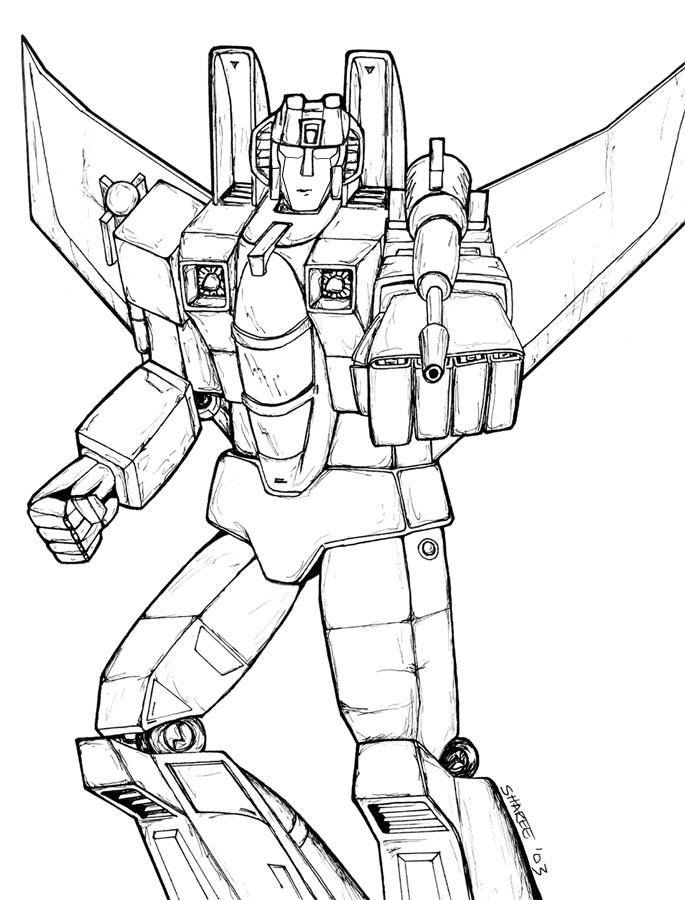 starscream coloring page transformer starscream free colouring pages
