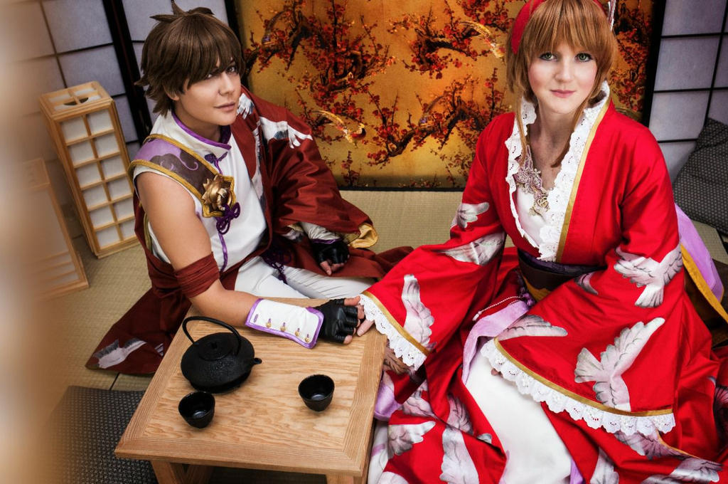 Sakura and Syaoran by Fall3nW1ngs