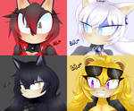 Icons practice | Team RWBY by LittleRedRos3