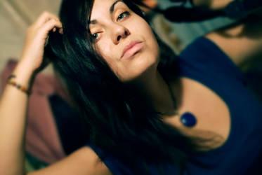 Me in cyen-blue