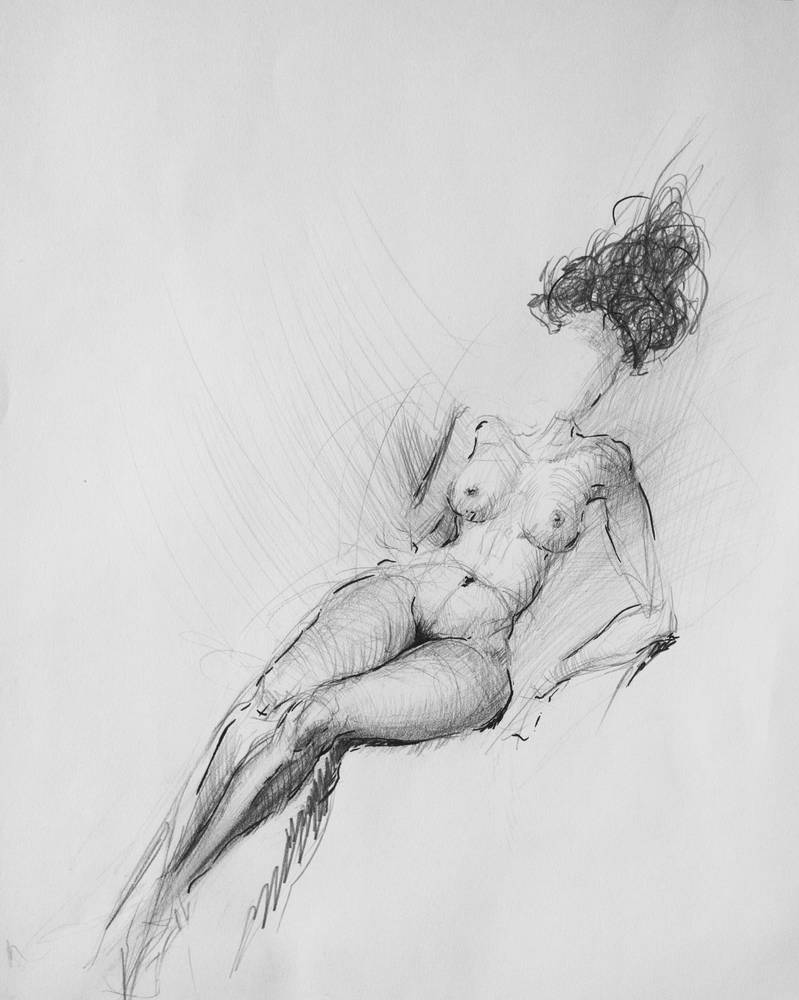 Female Body Study by Karaul