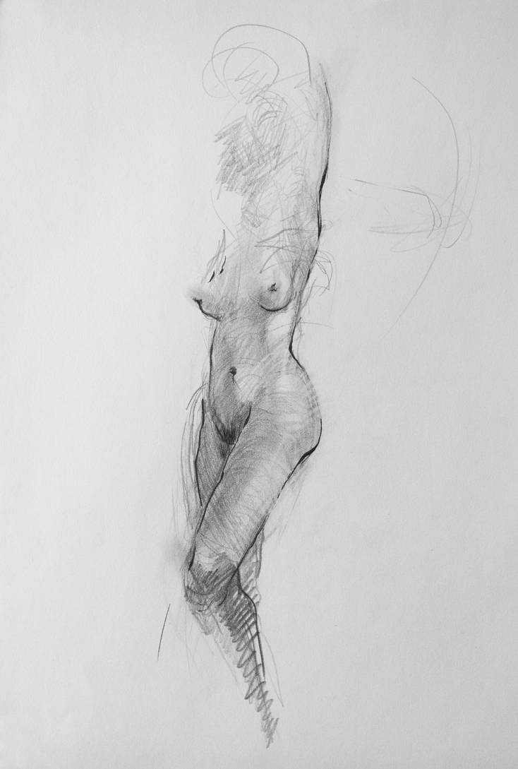 Nude Female Body Study by Karaul