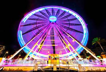 The Giant Ferris Wheel in the city of Genova