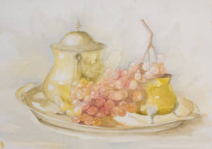 Watecolor still life painting