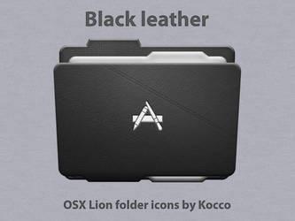 Black leather folder icons