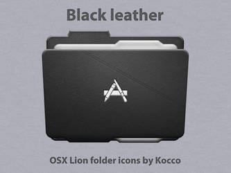 Black leather folder icons by kocco