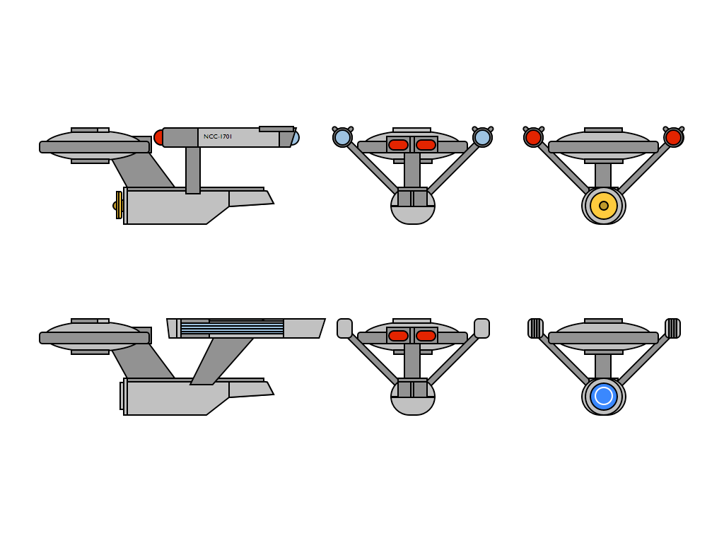 USS Enterprise and Enterprise A by 635k