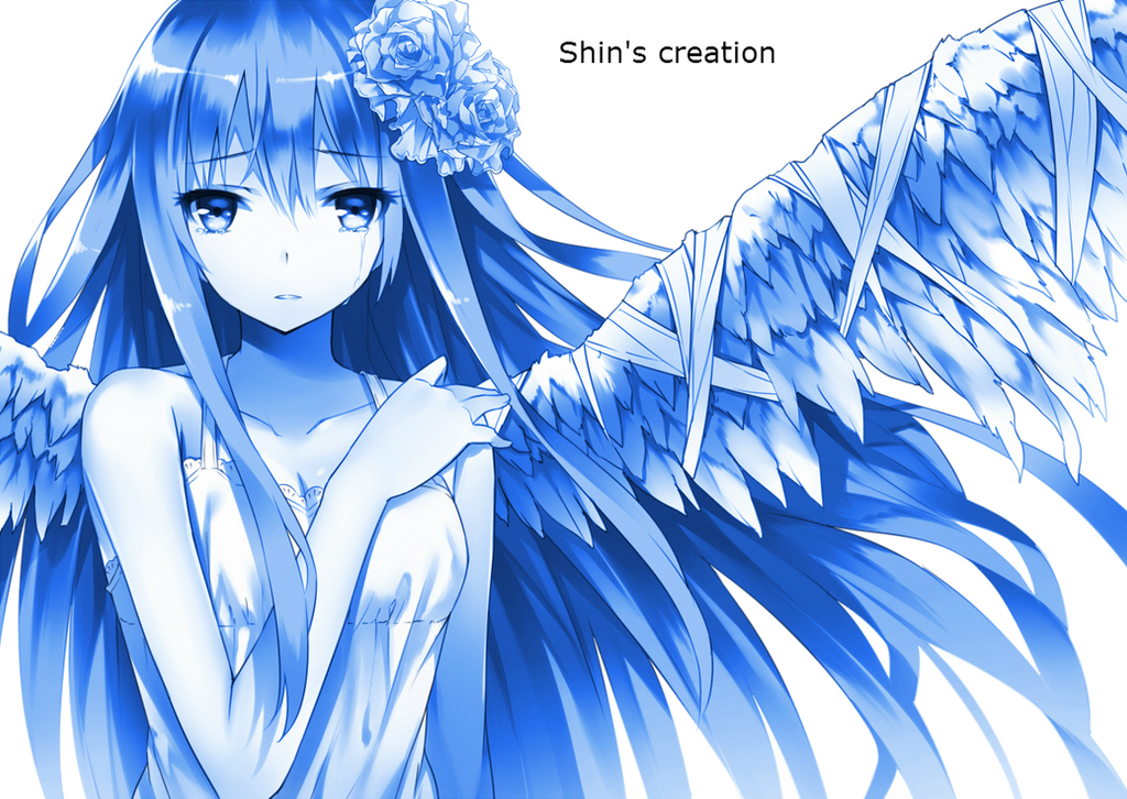 Sad Fallen Angel Anime