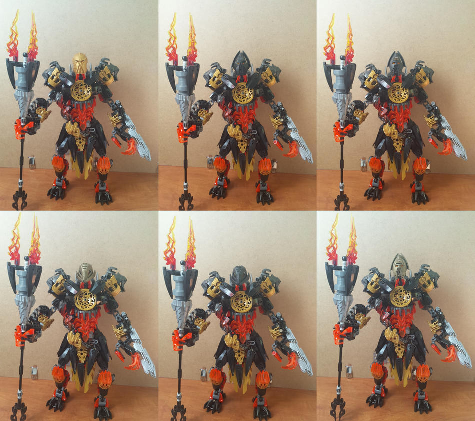 Makuta from JtO with G1 masks by Ultimo10