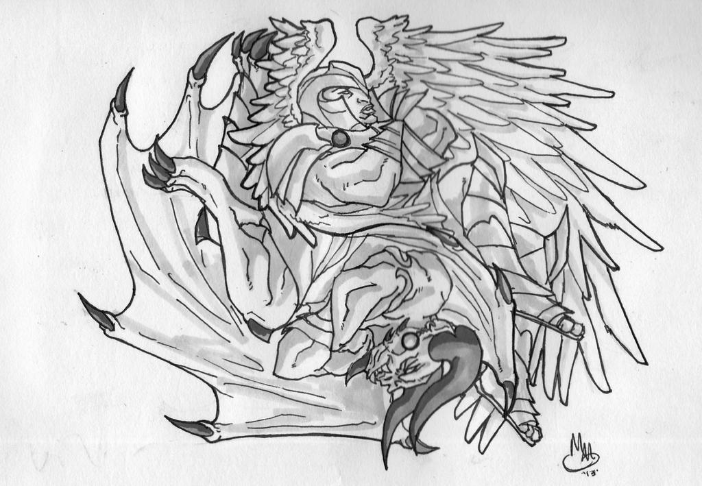 angel and demons drawings - photo #11