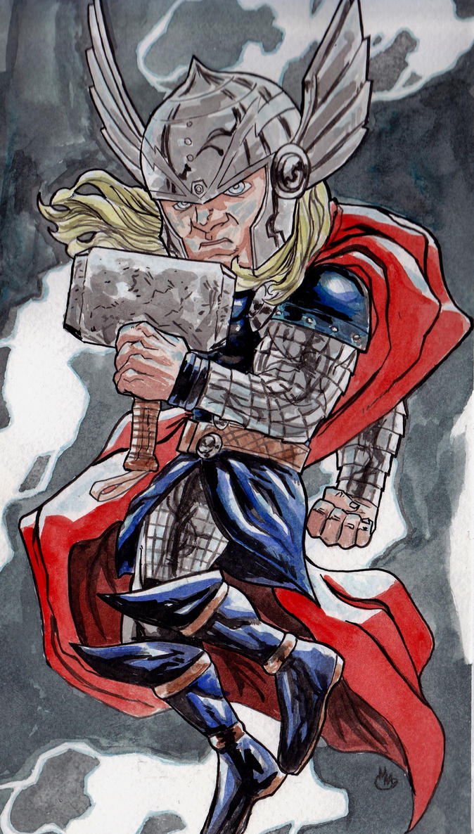 Thunder Chibi(The Mighty Thor) by BluBoiArt