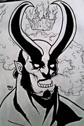 Inktober: Give in to Darkness by BluBoiArt