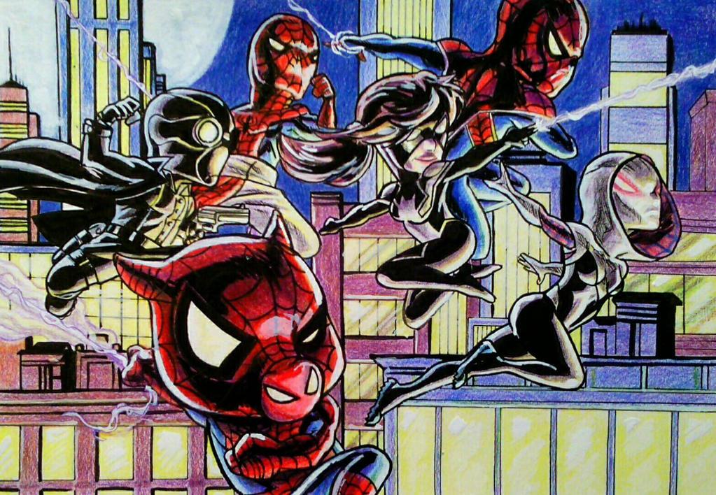 Mini Marvels: Secret Wars- SpiderVerse by BluBoiArt