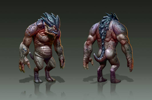 Creature concept 1 by adam-brown