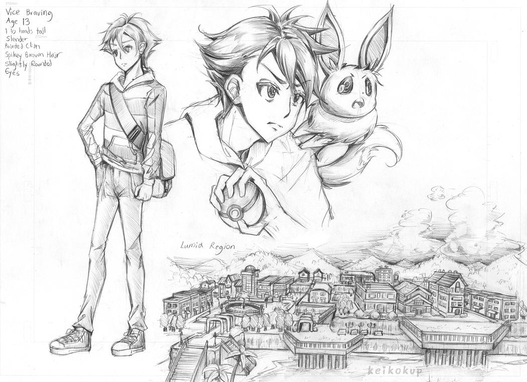 Pokemon Symphonic Horizon: Concept Sketches by KeikoKup