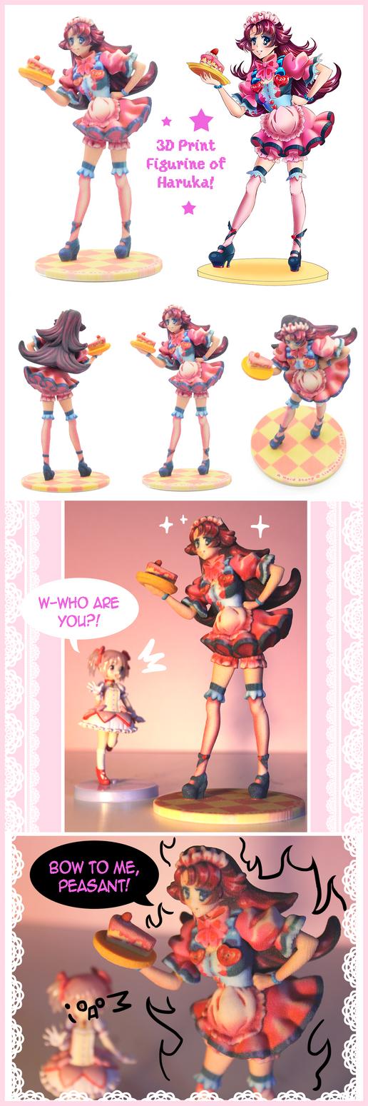 Haruka 3D Print Figurine by KeikoKup