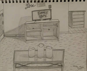 Dorm Living Room: Drawing From Life