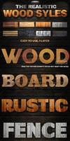 (Photoshop Styles) The Realistic Wood Styles