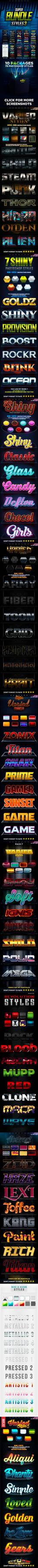 (Photoshop Styles) Super Bundle Styles 3 by aanderr