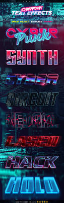 Cyberpunk Text Effects (Paid Content)