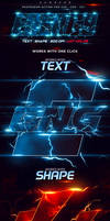 Energy Text Photoshop Action (Paid Content)