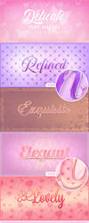 Delicate Photoshop Text Effects (Professional) by aanderr