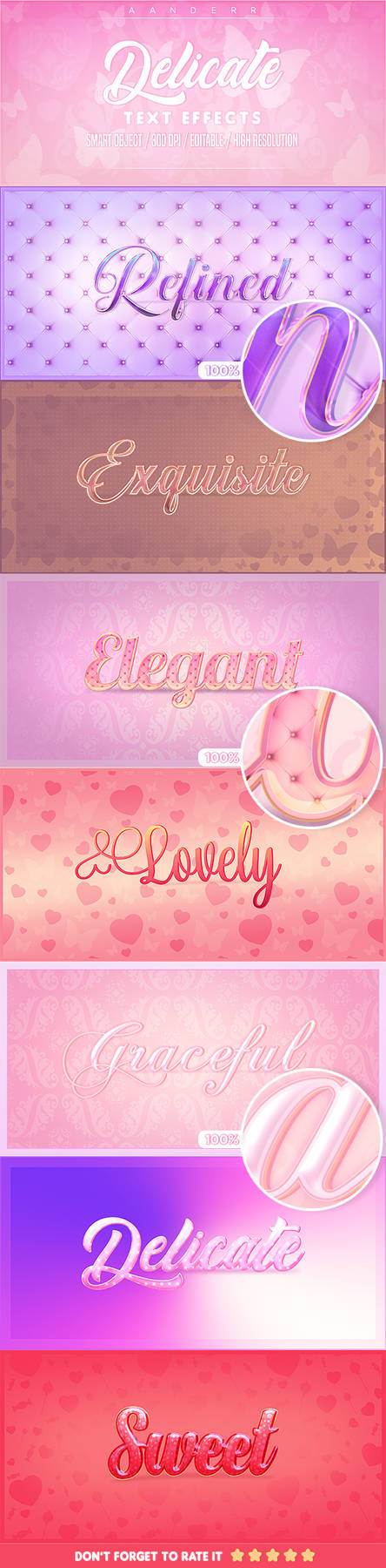 Delicate Photoshop Text Effects (Professional)